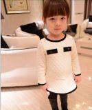 Baby-Taschen-Kleid-schwarze/weiße elegante Partei-Prinzessin Dresses der Jahr-2t-7
