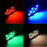 Indicatore luminoso variopinto dello stroboscopio della fase LED della strumentazione del DJ del pavimento di RGB/White
