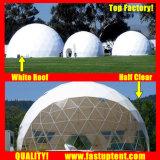 Estrutura de alumínio fabricante de 8m de diâmetro Dome Geodésico tenda para refeições ao ar livre