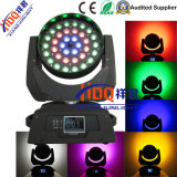 36X18W 6en1 Abeja ojo RGBWA Zoom cabezal movible de luz LED UV
