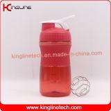 botella plástica de la coctelera del mezclador 500ml con la bola inoxidable del mezclador del mezclador (KL-7064)
