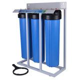 Grande depuratore di acqua blu delle 3 fasi con la parentesi d'acciaio