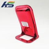 Мода Красный Shinny стенд 3 катушек зажигания быстрое зарядное устройство беспроводной связи стандарта Qi для всех мобильных телефонов
