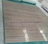 Mattonelle di marmo di legno del pavimento/parete di Atene delle vene Polished naturali