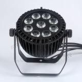 IGUALDAD de 9PCS X de 15W UV+RGBWA LED puede encenderse