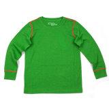 Детей шерстей бега овец нижнее белье Merino зеленое термально на зима