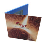 Video dispositivo di piegatura del nuovo prodotto in libro della stampa, video opuscolo con il video all'interno del fornitore in Cina
