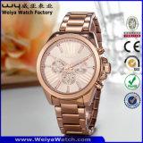 ODMの方法合金の水晶女性腕時計(Wy-106A)
