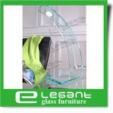 Lampe de table en verre tordus gris avec voyant LED 3 W