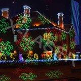 Illuminazione muoventesi di paesaggio di natale degli indicatori luminosi di natale della proiezione del laser
