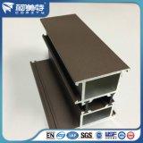 صناعة [بروون] مسحوق طلية [6063ت5] ألومنيوم قطاع جانبيّ لأنّ نافذة داخليّة وإطار خارجيّ