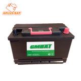 12V 80AH свинцово-кислотного аккумулятора автомобиля типа 58043 без необходимости технического обслуживания