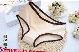 Madame inférieure Panty Underwear de taille de dossiers de Bowknot de coton de la couleur solide 95% de femmes de RIM de couleur de modèle simple