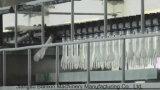 Guanti a gettare della mano del guanto del vinile che fanno macchina