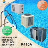12kw/19kw/35kw/70kw 티타늄 교환기 Cop4.62 보온장치 32deg. 20~80의 입방체 미터 물 작은 수영풀 열 펌프를 위한 C