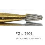 Зубоврачебный карбид Burs отделкой Титана Слоя и сверлом FG L-7404 утески