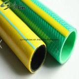 O PVC flexível de fibra de plástico reforçado trançado Jardim Hidráulica de água do tubo de borracha do tubo de irrigação