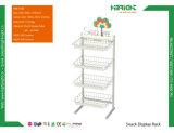 Supermarkt-Ausstellungsstand-Korb-Förderung-Imbiss-Bildschirmanzeige-Zahnstange