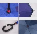 Venda a quente 23pol*8K tem proteção contra o guarda-chuva invertida de dupla camada com impressão de logotipo