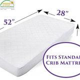 Colchón de cuna impermeable hipoalergénica Pad Protector de la cubierta/