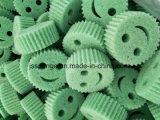 Polyester-Lächeln-Gesichts-Form-Küche-Reinigungs-Schwamm scheuern sich