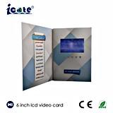 Le meilleur prix brochure visuelle de vidéo de livre de carte vidéo d'affichage à cristaux liquides de 6 pouces