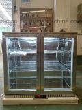 Индикация емкости двери 2 стекел большая назад запирает охладитель охладителя/холодильника/пива нержавеющей стали
