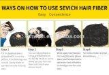 Fibras reais do cabelo humano do pó de Concealer da perda de cabelo para o cabelo cheio de Instanly