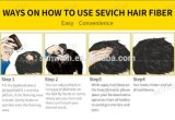 Haar-Verlust Concealer Puder-reale Menschenhaar-Fasern für Instanly volles Haar