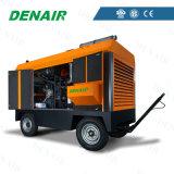 Compresor de aire diesel del tornillo movible de alta presión para el receptor de papel de agua del taladro