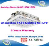Yaye 18保証5年のの最もよい販売法100With150With180W LEDの給油所ライトランプかMeanwell
