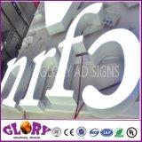 Lettre exposée extérieure de la Manche de la résine 3D DEL de DEL et signe de lettre de DEL