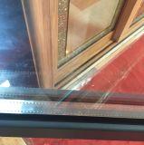 Guichet en aluminium de tissu pour rideaux de Chaleur-Isolation de profil avec le double verre trempé