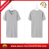 T-shirt promotionnel estampé par coutume jaune de la couleur des hommes
