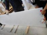 Laje de mármore branca pura chinesa da laje de mármore branca real