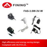 3V1.2A Adapter van de Levering van de Macht van de hoge Efficiency de Muur Opgezette met EU/USA Stop