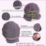 Парик волос короткой волны черноты части Dlme бортовой синтетический