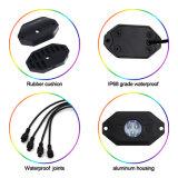 Faro fuori strada dei baccelli LED dei baccelli 8 dei baccelli 4 di colore 16 della roccia