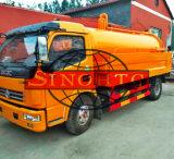 10m3 청소 하수 오물 흡입 트럭, 하수구 청소를 위해 분출을%s 가진 하수 오물 진공 흡입 트럭