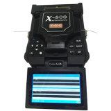 Splicer verificável da fusão da descarga de arco da atualização do USB da tela do LCD do visualização da fibra do armazenamento da tala