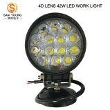 Trattore funzionante automatico rotondo poco costoso degli indicatori luminosi di pollice 42W dell'indicatore luminoso 12V 4 del lavoro del LED