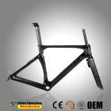 700C de 42mm de tubo de la cabeza llena de bicicletas carretera carbono Frame