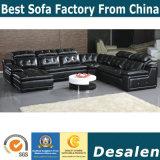 Migliore sofà del cuoio genuino di prezzi all'ingrosso di figura di qualità U (962)