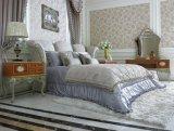 0066 Европейской старинной мебелью с одной спальней твердых деревянная резьба мебель