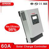LCD表示60Aの最大3000W出力12V MPPT太陽料金のコントローラ
