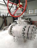 L'entrata d'acciaio forgiata del lato di temperatura insufficiente in pieno alesa la valvola a sfera di galleggiamento per servizio criogenico