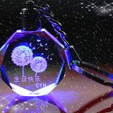 Presente di compleanno Pendant di cristallo di giorno dei 2018 biglietti di S. Valentino su ordinazione della catena chiave piccolo