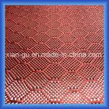 Tissu d'hybride de fibre de carbone de PARA Aramid d'armure de nid d'abeilles