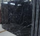 Mármol del negro del mármol de Nero Marquina (más venas)