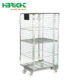 Entrepôt de stockage grande capacité de la sécurité chariot de la cage de rouleau